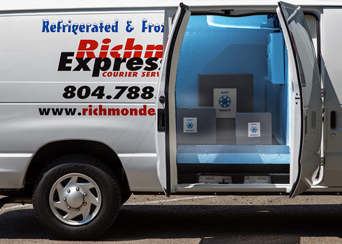 Refrigerated Trucks Richmond Express Courier Service